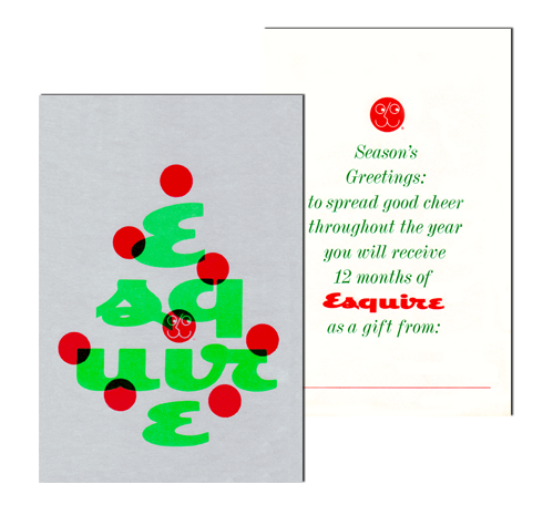 Corporate and Gift Christmas Card and Christmas Magazine Wrap (silk screened on silver mylar)
